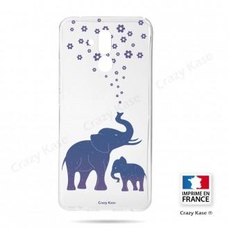 Coque Huawei Mate 20 Lite souple motif Eléphant Bleu - Crazy Kase