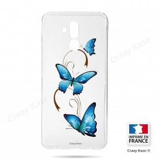 Coque Huawei Mate 20 Lite souple motif Papillon sur Arabesque - Crazy Kase