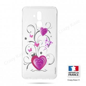 Coque Huawei Mate 20 Lite souple motif Cœur et papillon - Crazy Kase