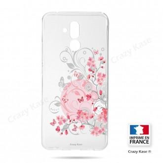 Coque Huawei Mate 20 Lite souple Fleurs et papillons - Crazy Kase