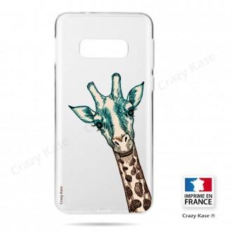 Coque Galaxy S10e souple motif Tête de Girafe - Crazy Kase