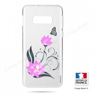 Coque Galaxy S10e souple motif Fleur de lotus et papillon- Crazy Kase