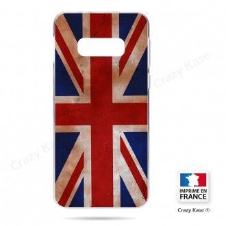 Coque Galaxy S10e souple motif Drapeau UK vintage - Crazy Kase