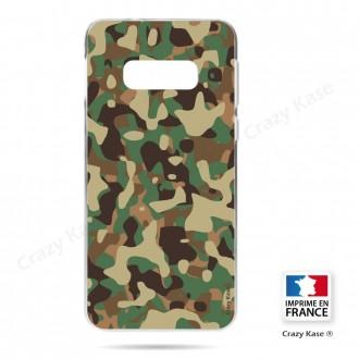 Coque Galaxy S10e souple motif Camouflage militaire - Crazy Kase