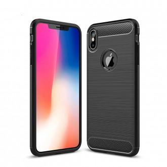 Coque iPhone Xs noir effet carbone - Crazy Kase
