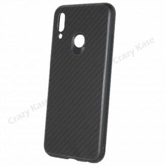Coque Huawei P Smart 2019 noir rigide effet carbone - Crazy Kase
