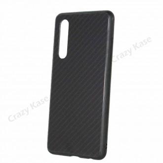 Coque Huawei P30 noir rigide effet carbone - Crazy Kase
