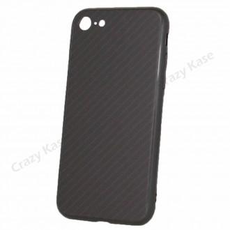 Coque iPhone 7/8 noir rigide effet carbone - Crazy Kase