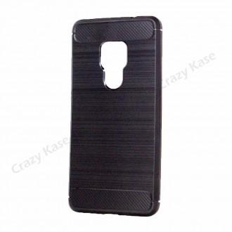 Coque Huawei Mate 20 noir souple effet carbone - Crazy Kase