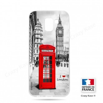 Coque Galaxy J6 Plus (2018)  souple Londres -  Crazy Kase