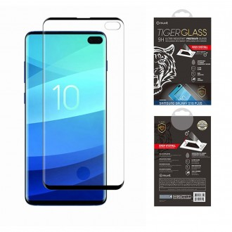 Film Galaxy S10 Plus protection écran verre trempé avec applicateur - Muvit