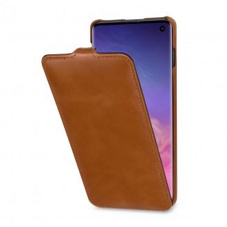 Etui Galaxy S10 UltraSlim en cuir véritable cognac - StilGut