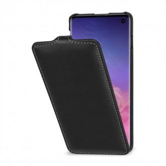 Etui Galaxy S10 ultraslim noir nappa en cuir véritable - Stilgut