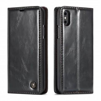 Etui iPhone Xs Max Porte-cartes Noir - CaseMe