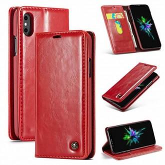 Etui iPhone Xs Max porte-cartes Rouge - CaseMe