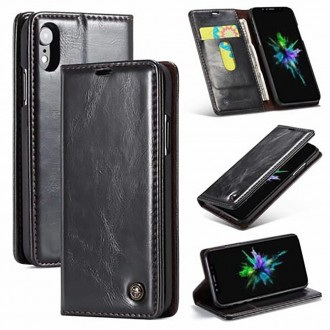 Etui iPhone Xr porte-cartes Noir - CaseMe