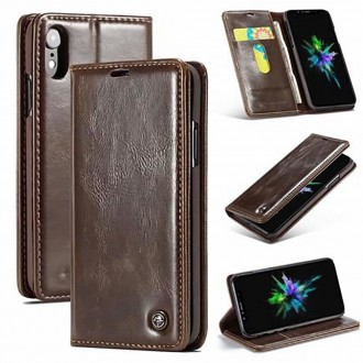 Etui iPhone Xr porte-cartes Marron - CaseMe