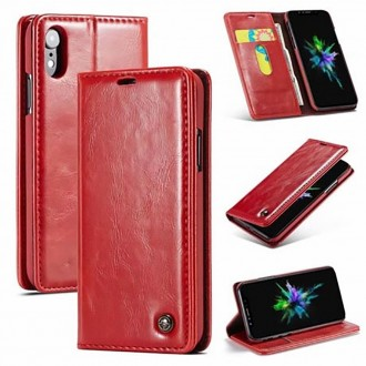 Etui iPhone Xr porte-cartes Rouge - CaseMe