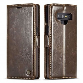 Etui Galaxy Note 9 porte-cartes Marron - CaseMe