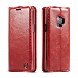 Etui Galaxy S9 porte-cartes rouge - CaseMe