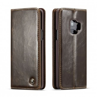 Etui Galaxy S9 porte-cartes marron - CaseMe