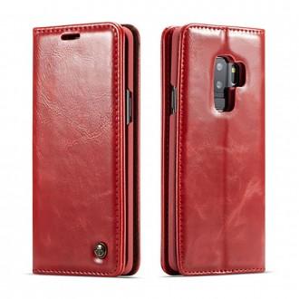 Etui Galaxy S9 Plus porte-cartes rouge - CaseMe