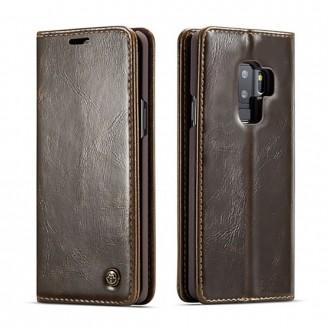 Etui Galaxy S9 Plus porte-cartes marron - CaseMe
