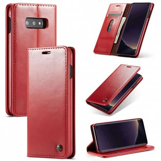 Etui Galaxy S10e porte-cartes rouge - CaseMe