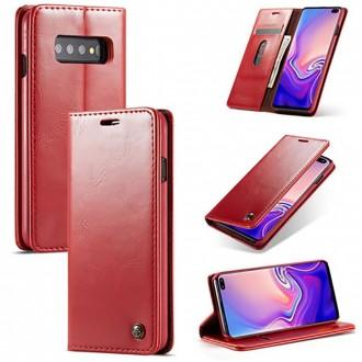 Etui Galaxy S10 Plus porte-cartes rouge - CaseMe