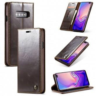 Etui Galaxy S10 Plus porte-cartes marron - CaseMe