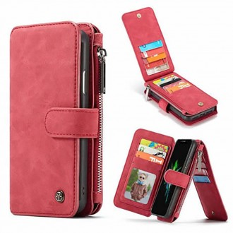 Etui iPhone Xr Portefeuille multifonctions Rouge - CaseMe