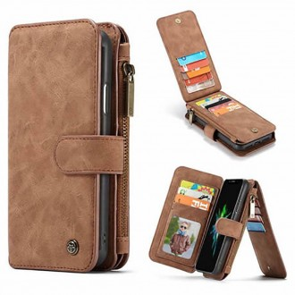 Etui iPhone Xr Portefeuille multifonctions Marron - CaseMe