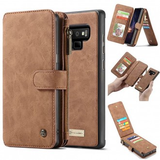 Etui Galaxy Note 9 Portefeuille multifonctions Marron - CaseMe