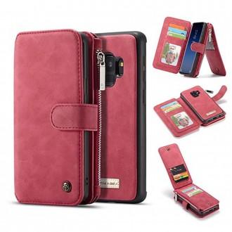 Etui Galaxy S9 Portefeuille multifonctions Rouge - CaseMe