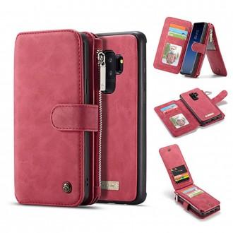 Etui Galaxy S9 Plus Portefeuille multifonctions Rouge - CaseMe
