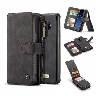 Etui Galaxy S9 Plus Portefeuille multifonctions Noir - CaseMe