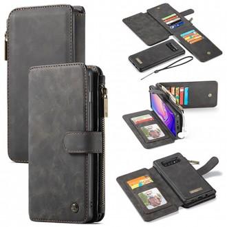 Etui Galaxy S10 Portefeuille multifonctions Noir - CaseMe