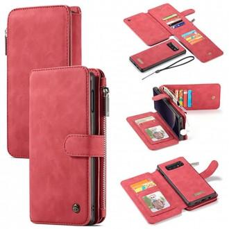 Etui Galaxy S10e Portefeuille multifonctions Rouge - CaseMe