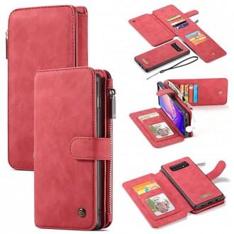 Etui Galaxy S10 Plus Portefeuille multifonctions Rouge - CaseMe