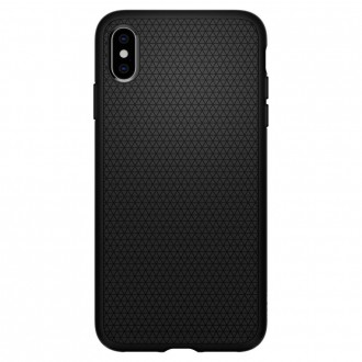 Coque iPhone Xs Max Liquid Air noir mat - Spigen