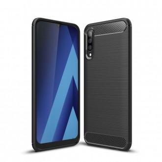Coque Galaxy A50 noir souple effet carbone - Crazy Kase
