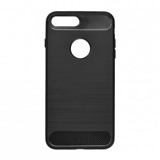 Coque iPhone 7/8 noir souple effet carbone - Crazy Kase