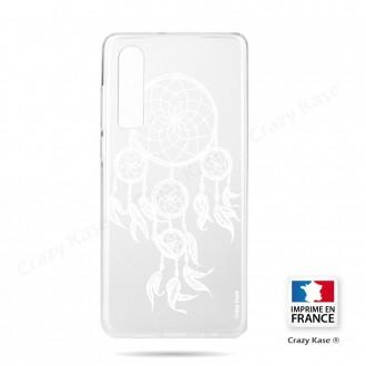 Coque Galaxy A70 souple motif Attrape Rêves Blanc - Crazy Kase