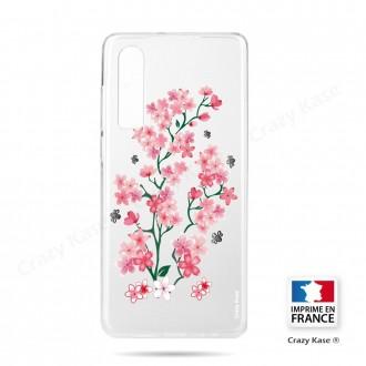 Coque Galaxy A70 souple motif Fleurs de Sakura - Crazy Kase