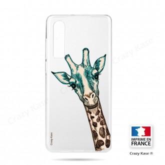 Coque Galaxy A70 souple motif Tête de Girafe - Crazy Kase