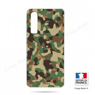 Coque Galaxy A70 souple motif Camouflage militaire - Crazy Kase