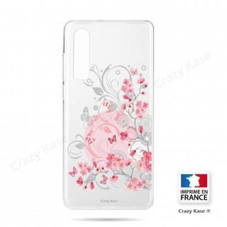 Coque Galaxy A70 souple Fleurs et papillons -  Crazy Kase