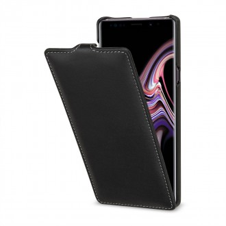 Etui Galaxy Note 9 ultraslim noir nappa en cuir véritable - Stilgut