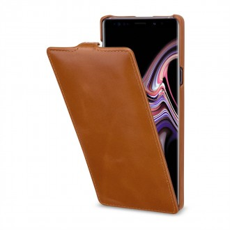 Etui Galaxy Note 9 UltraSlim en cuir véritable cognac - StilGut