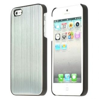 Coque aluminium brossé argent pour iPhone 5